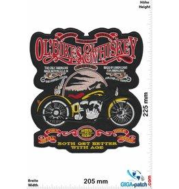 Ol' Bikes & Whiskey  Ol' Bikes & Whiskey - Both get better with Age- 22 cm - BIG
