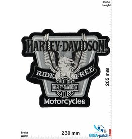 Harley Davidson Harley Davidson - Ride Free Eagle - 23 cm -BIG