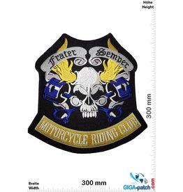 Skull Frater Semper - Motorcycle Riding Club - 30 cm - BIG