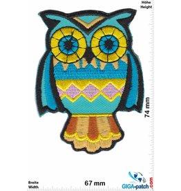 Eule Owl - blue