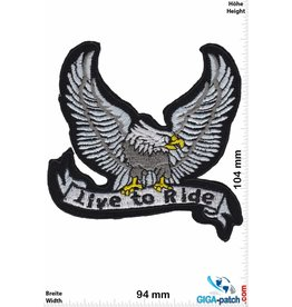 Biker Live to Ride - Eagle