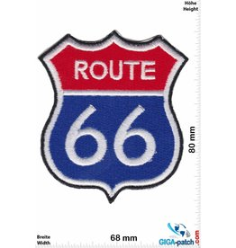 Route 66 ROUTE 66  - red blue