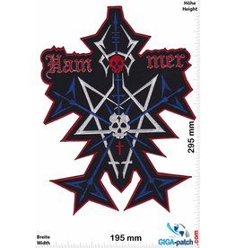 Hammer Hammer - Pentagram - Metal  - 29 cm - BIG