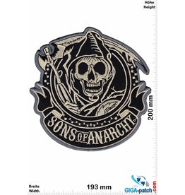 Sons of Anarchy  Sons of Anarchey - silvergold - 20 cm -BIG