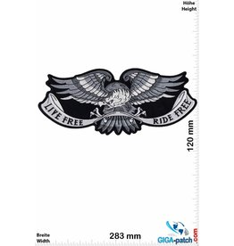 Live Free Live Free - Ride Free -  Eagle -  28 cm - BIG