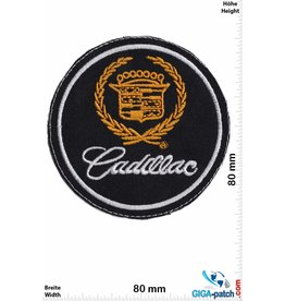 GM Cadillac - General Motor - round black gold