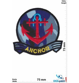 Navy Marine -  Anker - Anchor red