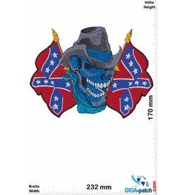 Cowboy Skull Cowboy - Flag-  23 cm