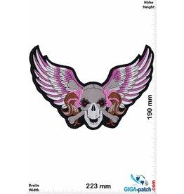 Skull Lady Skull Head - fly- 22 cm