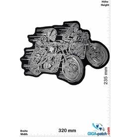 Cafe Racer Cafe Racer - 2 Skull Biker- 32 cm