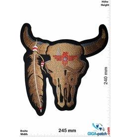 Indian Bison Skull Indian - brown -   24 cm