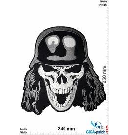 Slayer Totenkopf - Skull Head - Stahlhelm - Slayer - 25 cm