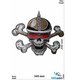 Cafe Racer Skull Helmet - Cafe Racer  - 2 Bones- 34 cm