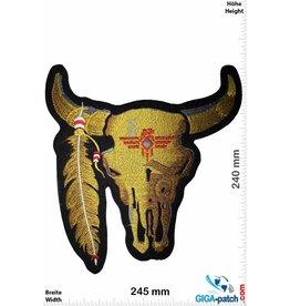 Indian Bison Skull Indian - Bison Schädel  Indianer - hellbraun - 24 cm