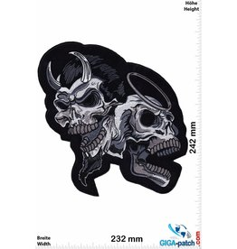 Skull Skull - angel and devil - 24 cm - BIG