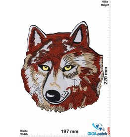 Wolf Lone Wolf - brown silver - 23 cm - BIG