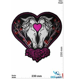 Pferd 2 horses - heart - 23 cm - BIG