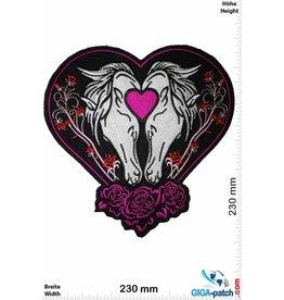 Pferd 2 Pferde - Herz - 23 cm - BIG
