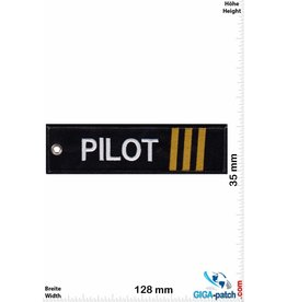 Pilot Pilot - 3 stripes - bronze - double-sided - washable