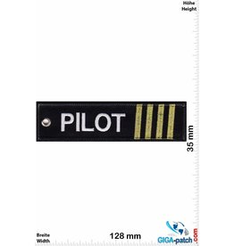 Pilot Pilot - 4 stripes - gold - double-sided - Washable