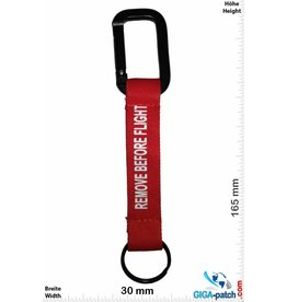 Karabiner, Carabiner Remove before Flight - red  - Carabiner
