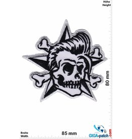 Totenkopf Skull  - black white