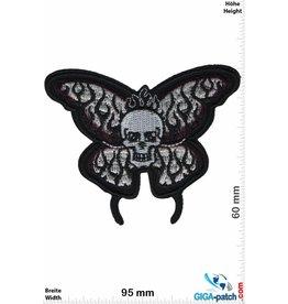 Totenkopf Skull Butterfly - black
