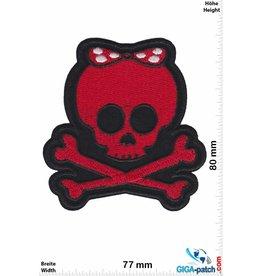 Totenkopf Skull - Girl Lady - red