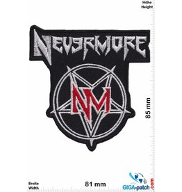 Nevermore Nevermore - silber red - US-Metal-Band- HQ