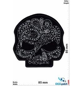 Muerto Skull - Totenkopf - Muerto - silver black - HQ