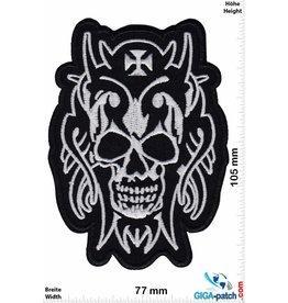 Totenkopf Skull  - black silver