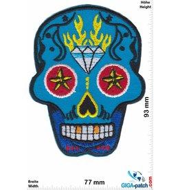 Muerto Skull - Totenkopf - Muerto - blue Diamond