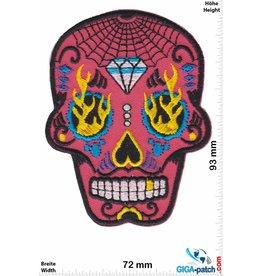 Muerto Skull - Totenkopf - Muerto - pink Diamond