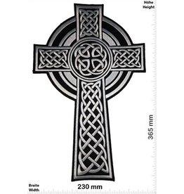 Celtic Kreuz - Kruzifix- Celtic - black silver- 36 cm
