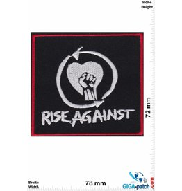 Rage against the machine Rise Against - silver red