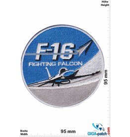 F 16 F-16 Fighting Falcon - blue silver - HQ