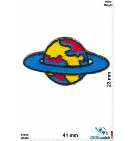 Raumfahrt Weltkugel -Space - blue - 2 STÜCK  - small