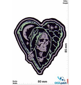 Totenkopf Skull - Heart - Oldschool