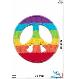 Frieden Peace - Frieden - Rainbow - small - 2 Stück