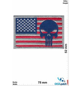 Punisher Punisher - USA  - Velcro patch with background - HQ
