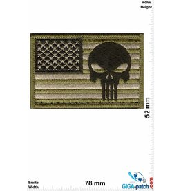 Punisher Punisher - USA  - green - Velcro patch with background - HQ