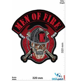 Bikerpatch Men of Fire - MC - 32 cm