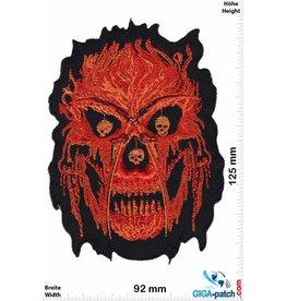 Totenkopf Biker skull - flames - HQ