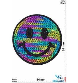 Smiley Smiley -  Smile - Rainbow -Sequins