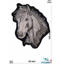 Pferd Horse - Horse head  - silver