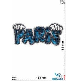 Paris - blue white - Pailletten