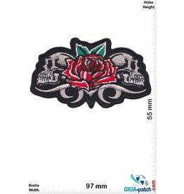 Totenkopf 2 skulls - rose