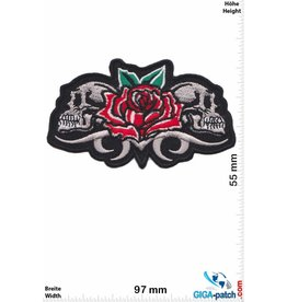 Totenkopf 2 Totenköpfe - Rose