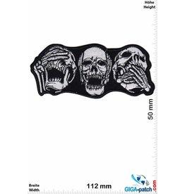 Totenkopf Skull - 3 monkeys - do not hear hear talk