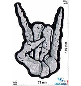 Skull Hand - Mudra - Metal Sign